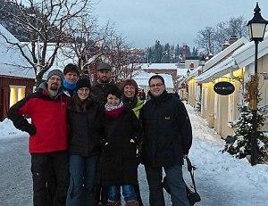 Deutsche Einwanderer auf dem norwegischen Julemarked