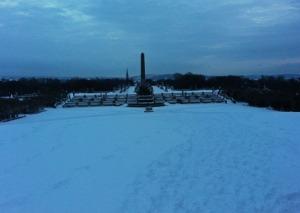 Frognerpark mit typischen 2014er Winterwetter...