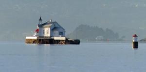 Leuchtturminsel im Oslofjord