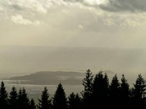 Blick vom Frognerseteren auf den Fjord
