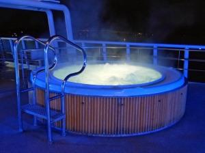 Hier mein erklärter Lieblingsplatz an Bord: der Arctic Pool  ;-)