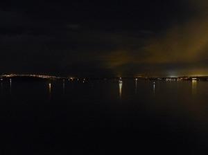 Nachtlichter über dem Oslofjord ...