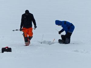 Eisangler am Sognsvann