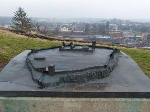 Tønsberg: Modell der Festungsanlage