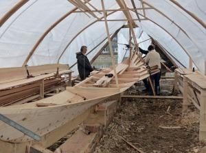 Neubau eines Wikingerbootes