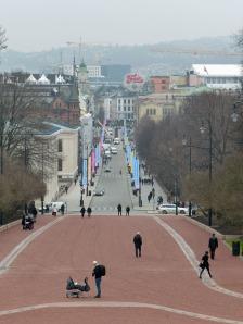 """Blick auf die Karl-Johans-Gate - Oslos """"Hauptstraße"""""""