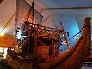 Raa II: mit dem Papyrusfloss wurde der Atlantik überquert.