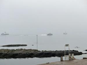 Schiffsverkehr im Nebel