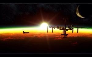 ISS und Space Shuttle