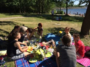 Zum Sommerpicknick (die Ralley dazu haben wir wegen zuwenig Teilnehmern sein lassen) ....