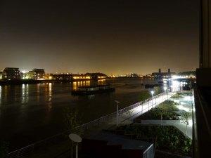 Nachtblick von unserem Balkon