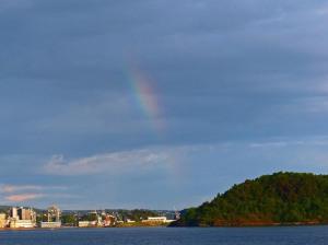 Regenbogen ueber Hovedøya