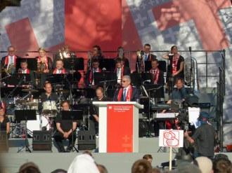 Bundespräsident Gauck bei seinem Grußwort