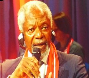 Kofi Annan im Gespräch ...