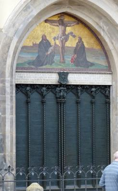 Die berühmte Tür der Wittenberger Schlosskirche