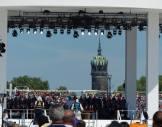 Wittenberg: Bühne mit der Schlosskirche im Hintergrund