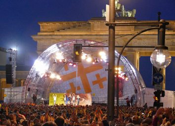 Wise Guys am Brandenburger Tor